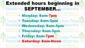 New Extended Pediatric Office Hours, Including Saturdays